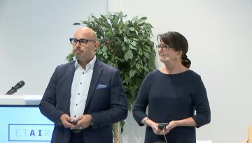 ETAIROS-tapahtuman moderaattoreina toimivat Jaana Leikas ja Mika Nieminen VTT'ltä.